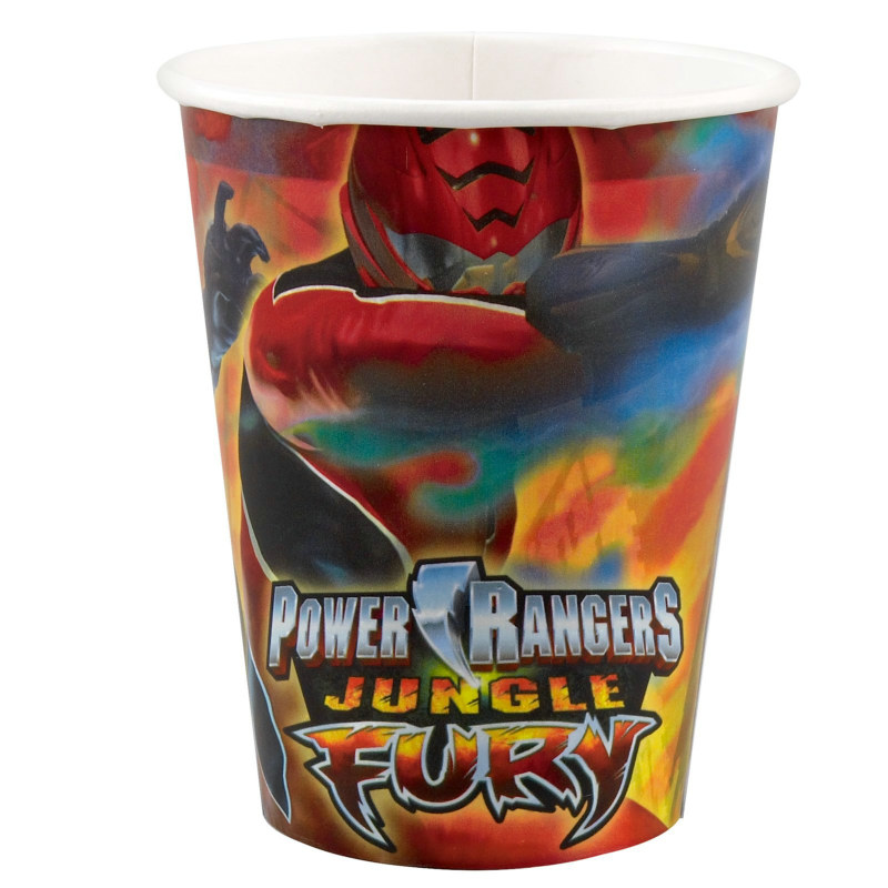 Power Rangers Jungle Fury 9 oz. Paper Cups (8 count)