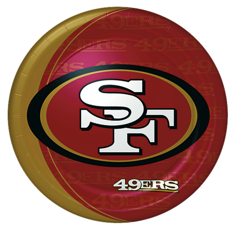 San Francisco 49ers Dinner Plates (8 count)