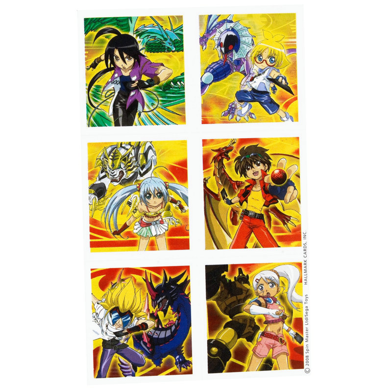 Bakugan Stickers (4 count)