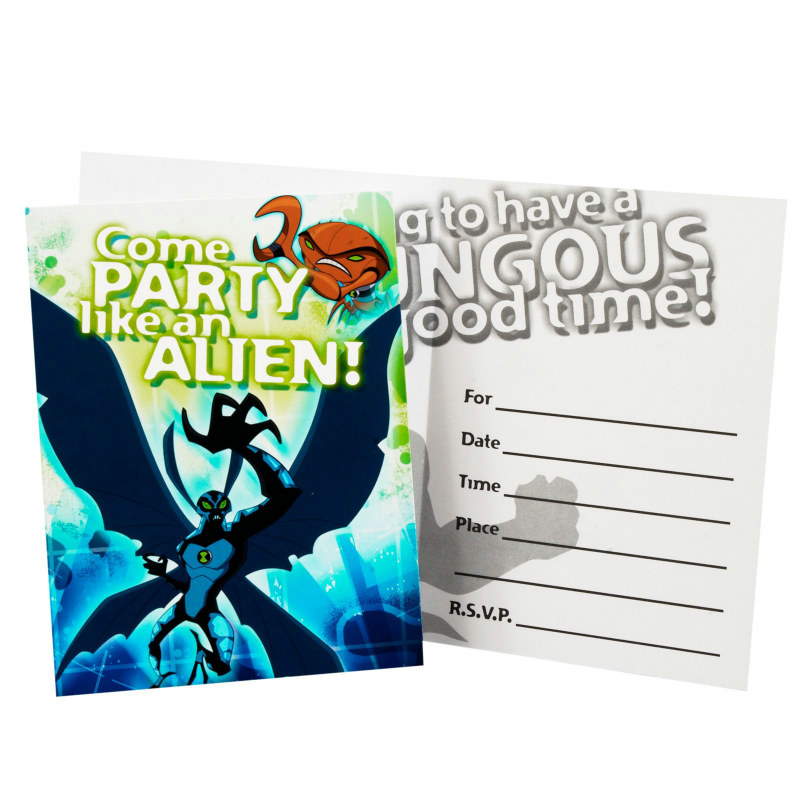 Ben 10: Alien Force Invitations (8 count)