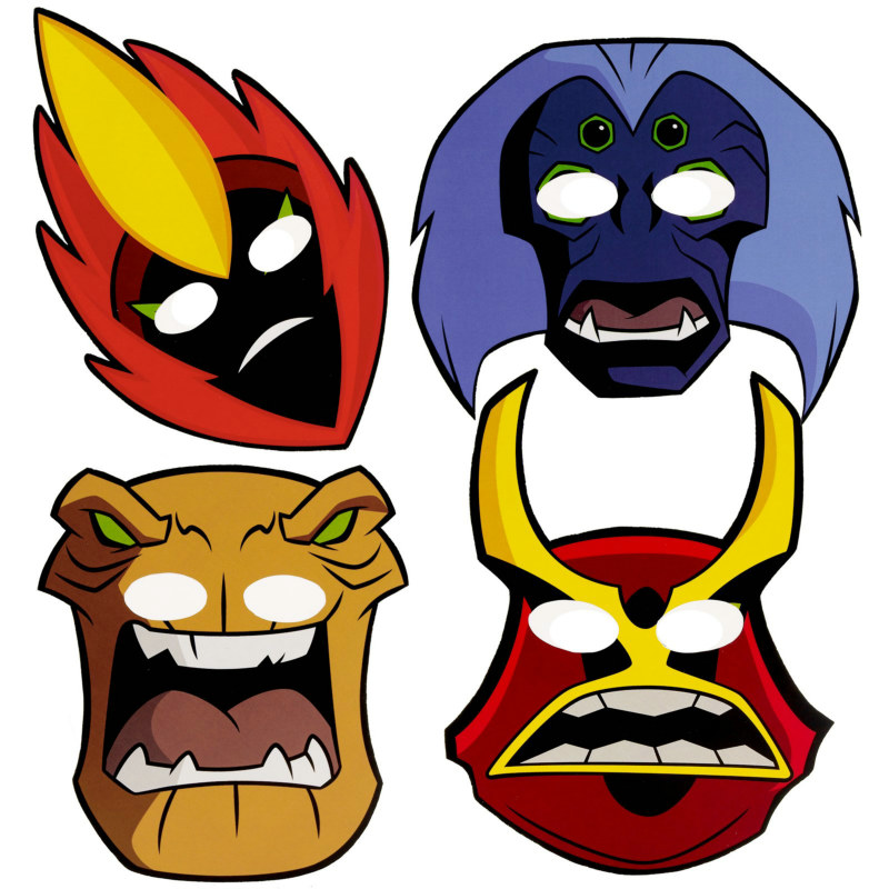 Ben 10: Alien Force Masks Asst. (8 count)