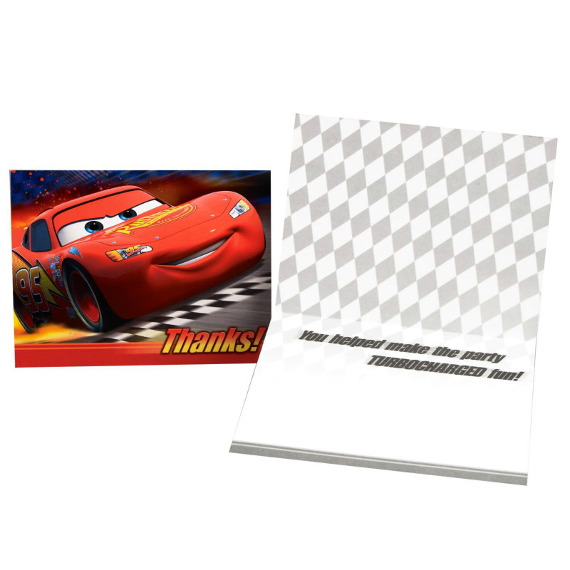 Disney's World of Cars Thank You Cards (8 count)