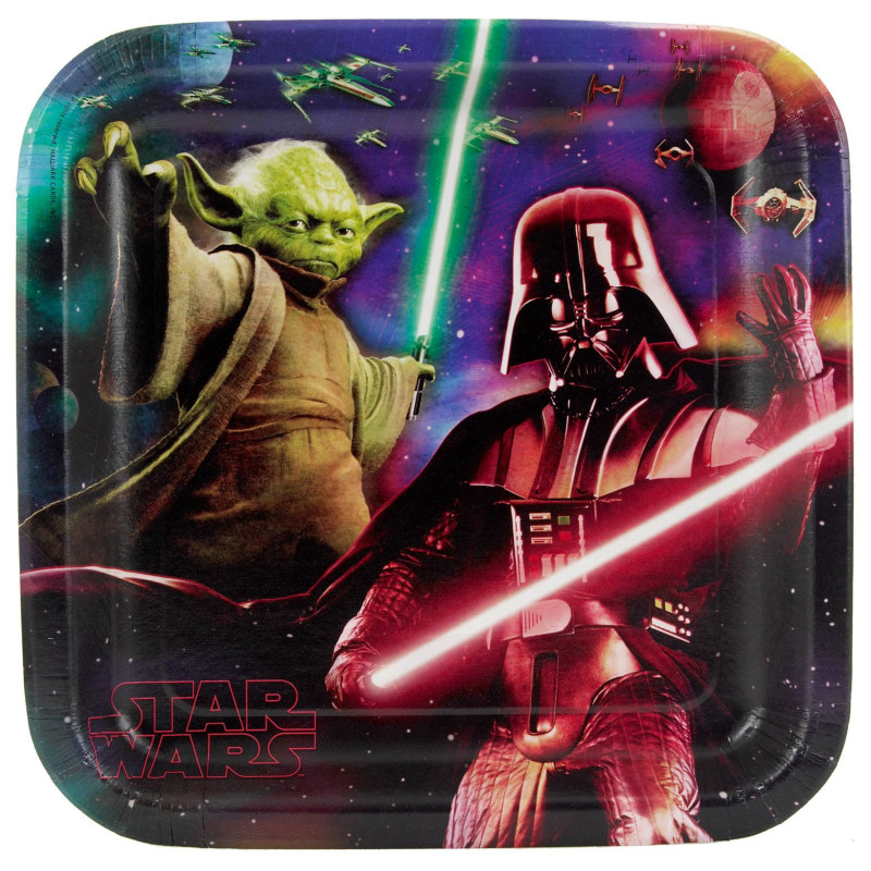 Star Wars 3D Feel the Force Square Dinner Plates (8 count)