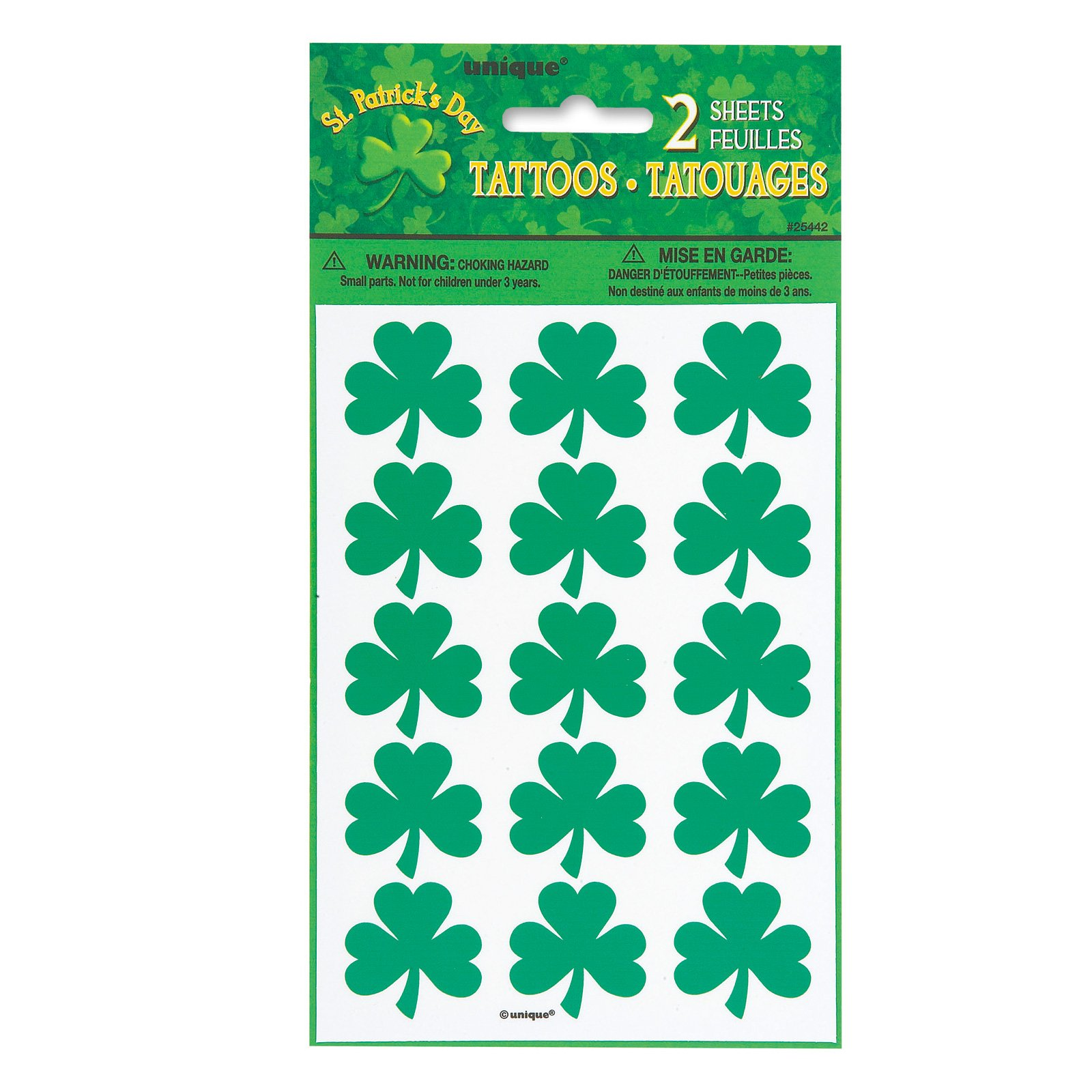 Shamrock Tattoo Sheets (2 count)