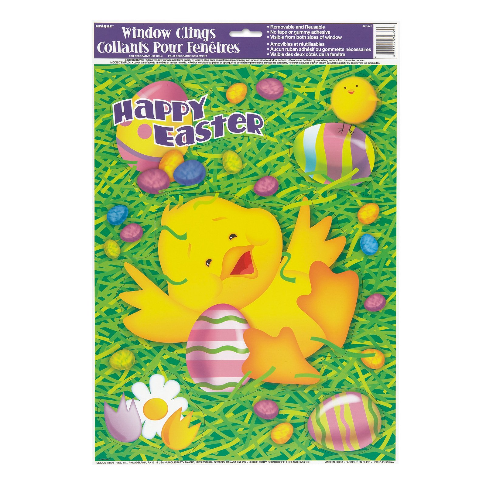 Easter Ducky Window Clings (1 sheet)