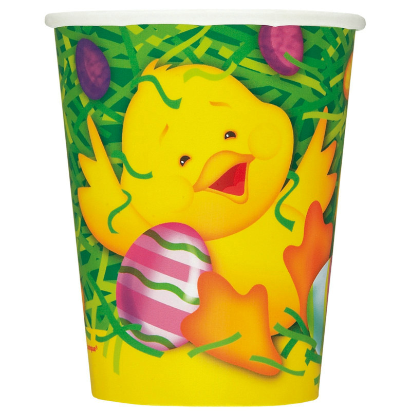 Easter Ducky 9 oz. Paper Cups (8 count)