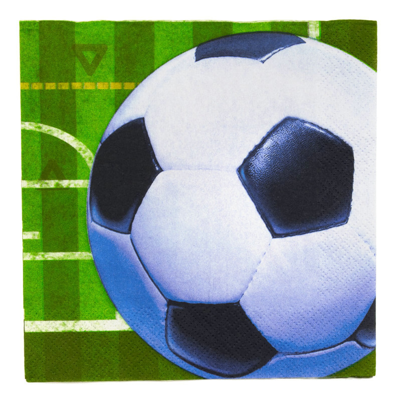 Soccer Lunch Napkins (16 count)