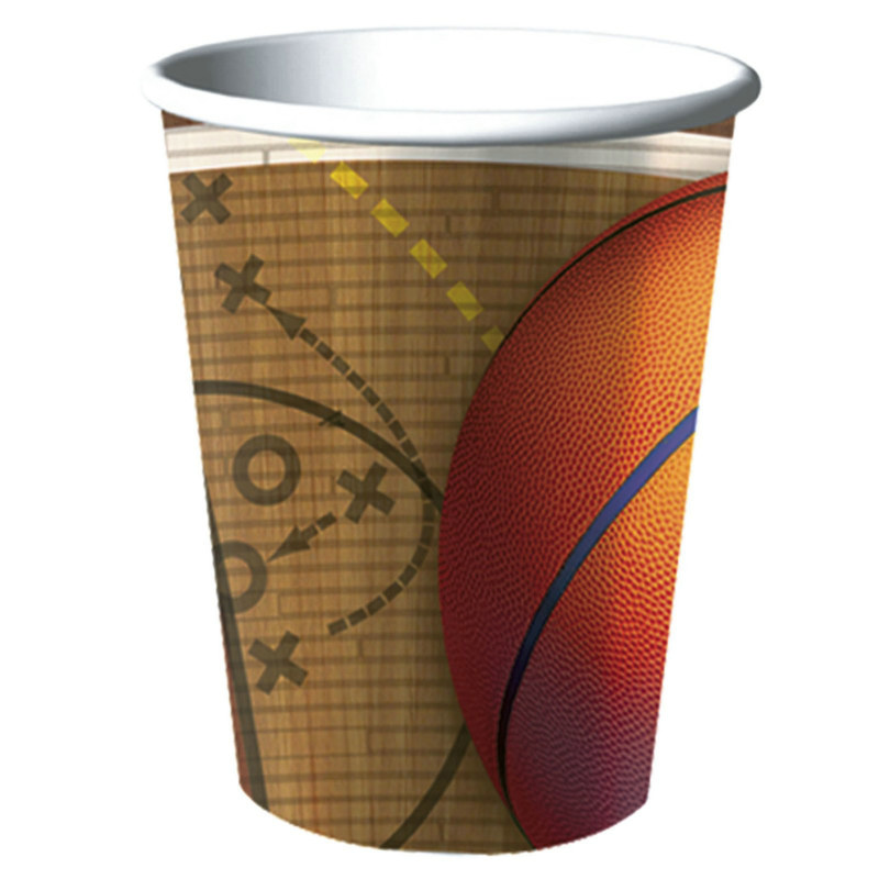 Basketball 16 oz. Plastic Cup (1 count)