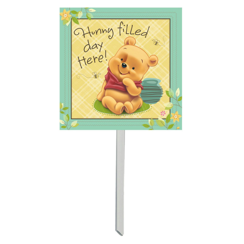Baby Pooh and Friends Yard Sign
