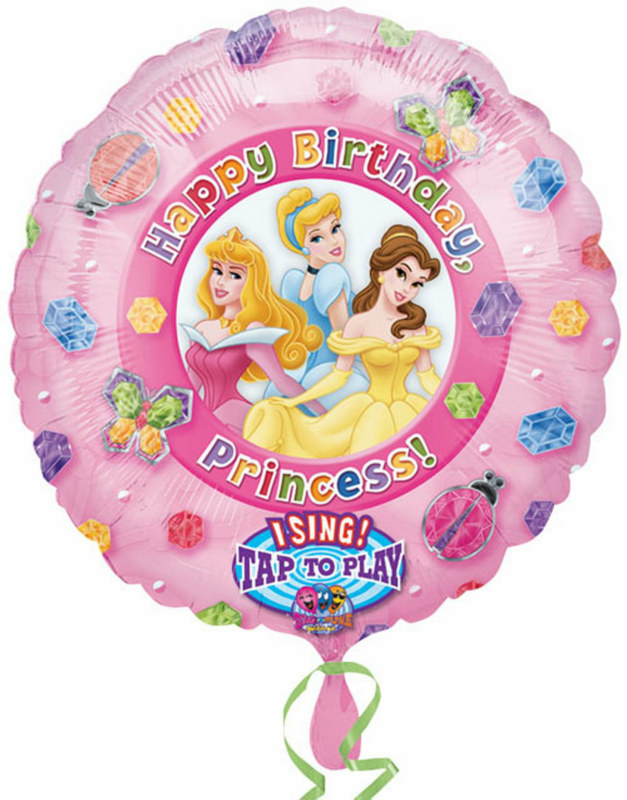 "Disney Princess Jumbo Singing 28"" Foil Balloon"