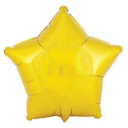 "Gold Prismatic Star 18"" Foil Balloon"