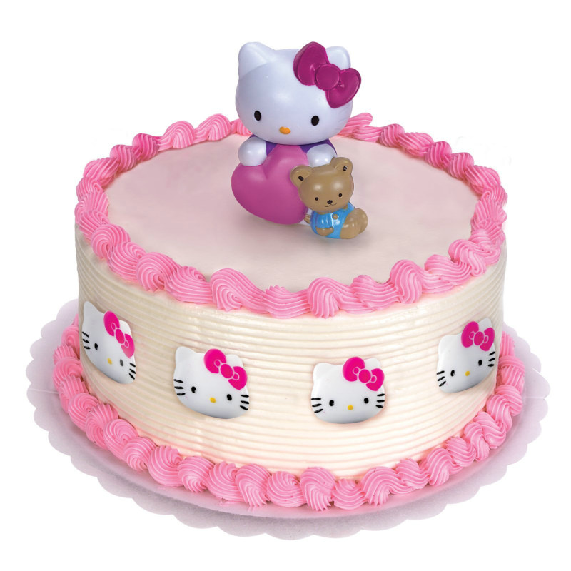 Hello Kitty Cake Topper and 8 Rings