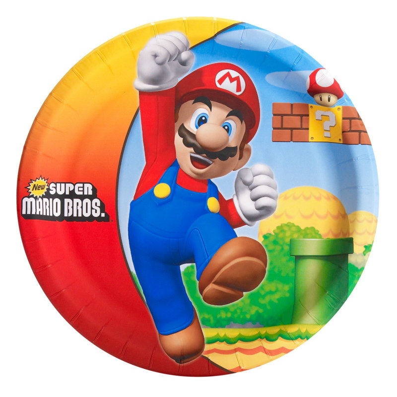 Super Mario Bros. Dinner Plates (8 count)