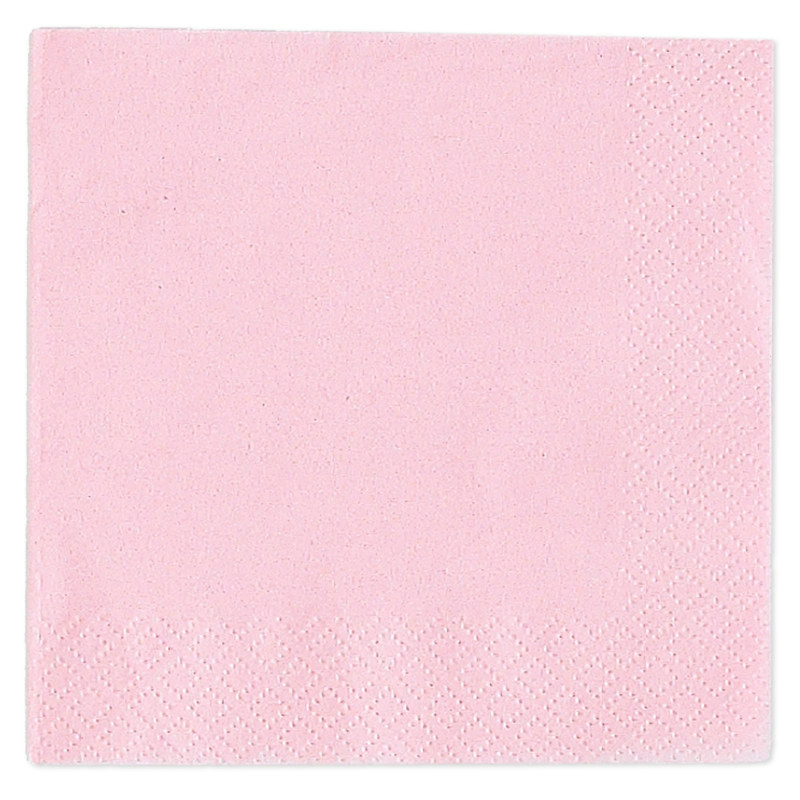 Light Pink Beverage Napkins (50 count)