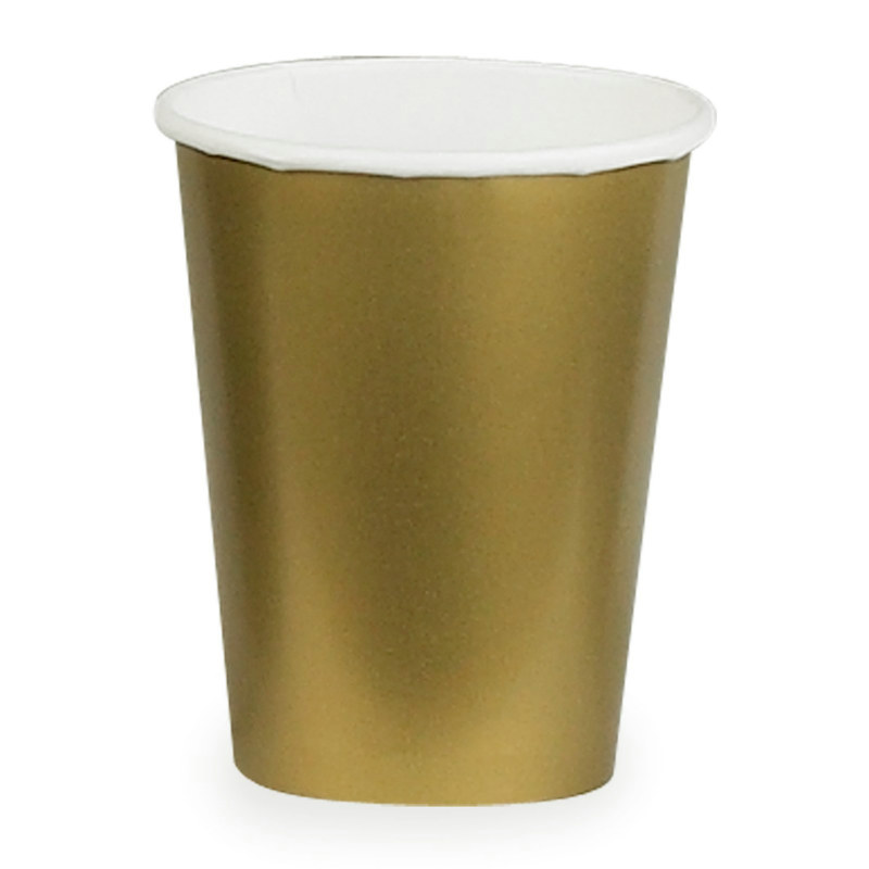 Gold 9 oz. Paper Cups (24 count)