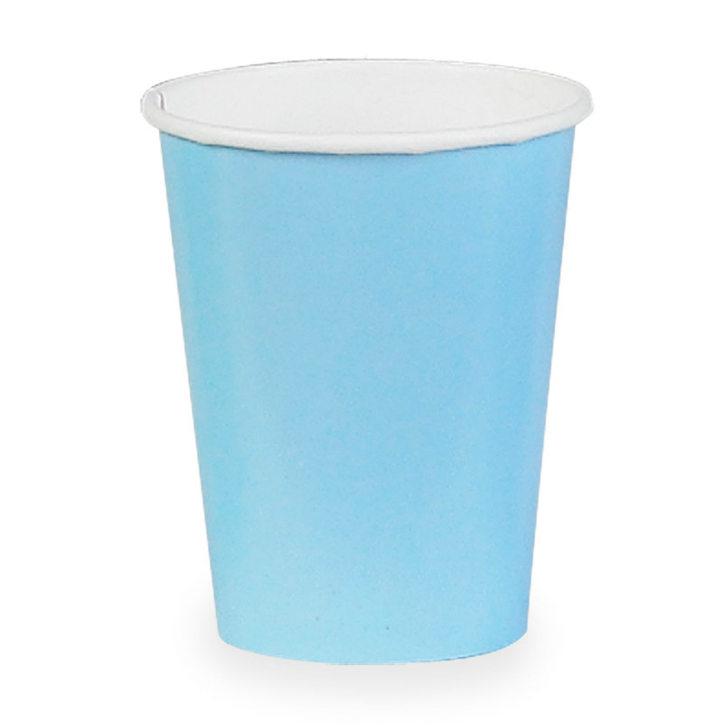 Light Blue 9 oz. Paper Cups (24 count)