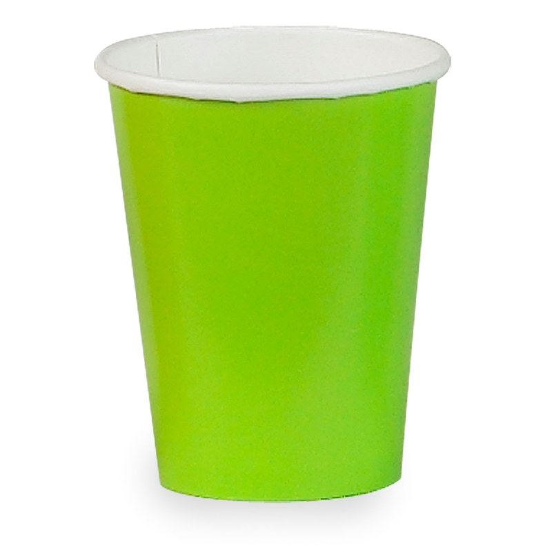 Lime Green 9 oz. Paper Cups (24 count)