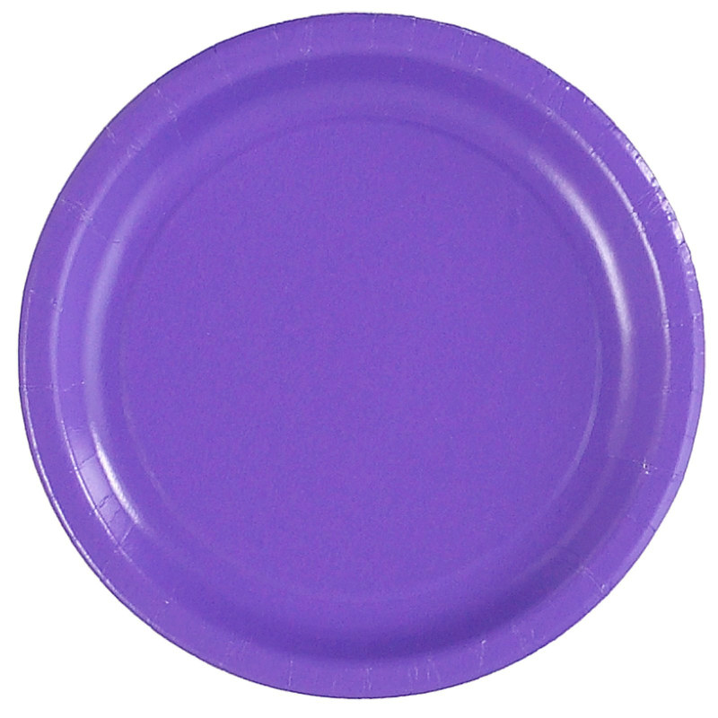 Purple Paper Dessert Plates (24 count)