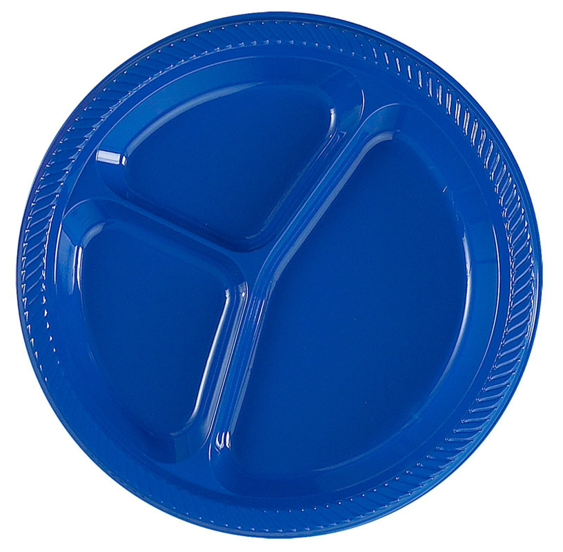 Royal Blue Divided Dinner Plates (20 count)