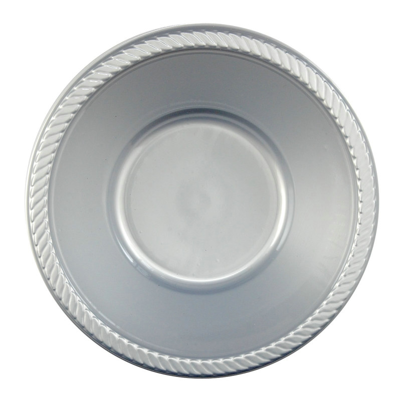 Silver Plastic Bowl (20 count)