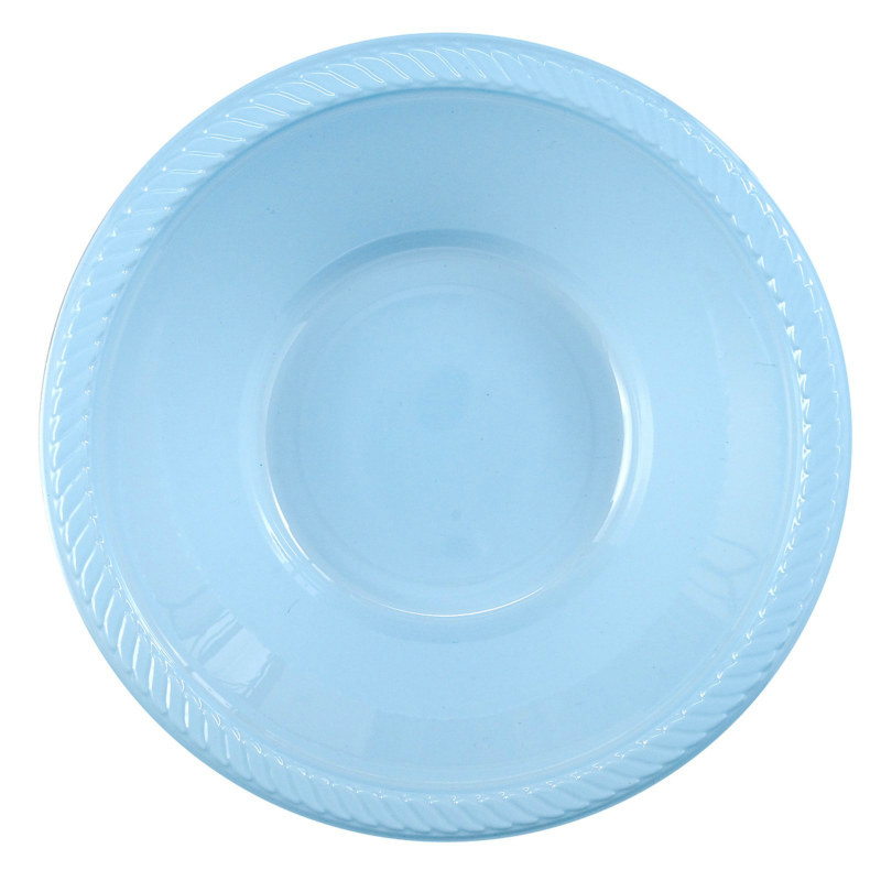 Light Blue Plastic Bowl (20 count)