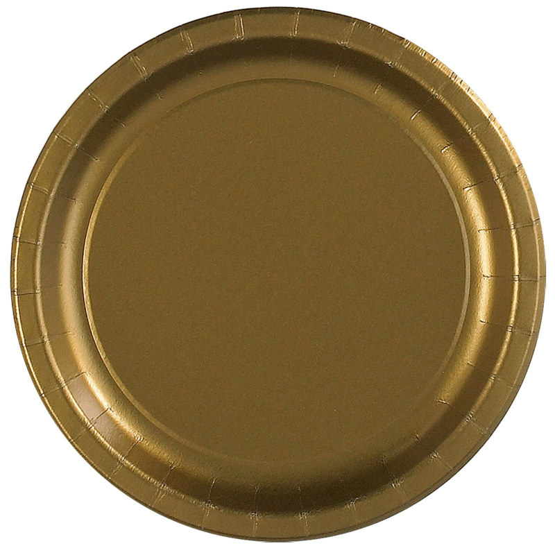 Gold Dinner Plates (24 count)