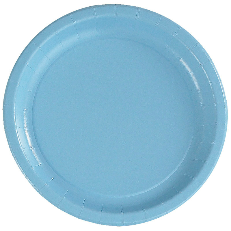 Light Blue Dinner Plates (24 count)