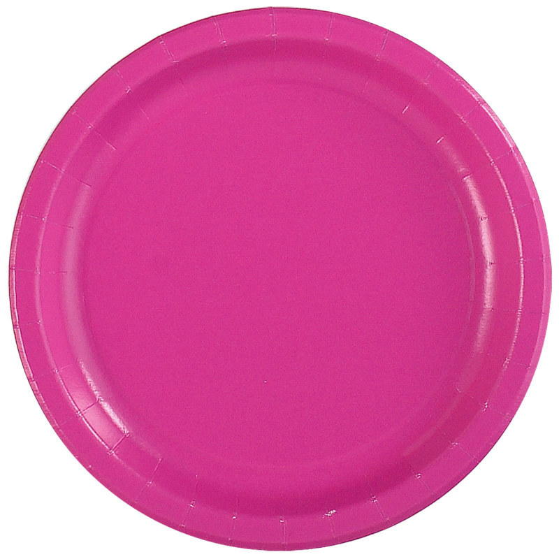 Hot Pink Dinner Plates (24 count)