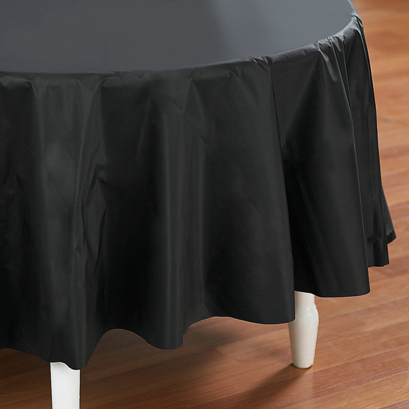 "Black Round 84"" Tablecover"