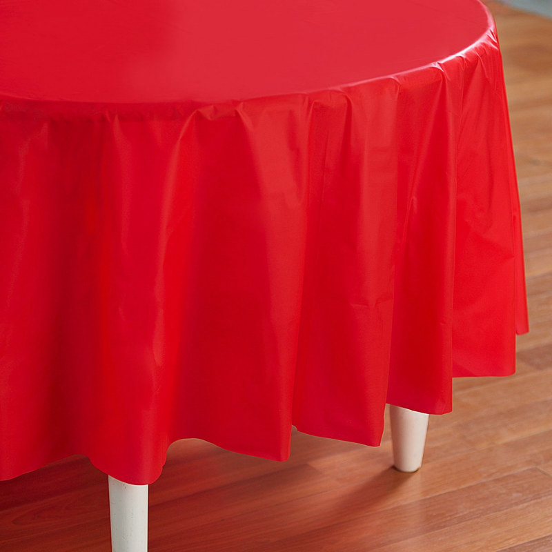 "Red 84"" Round Tablecover"