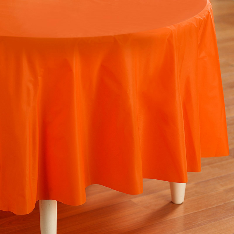"Orange Round 84"" Tablecover"