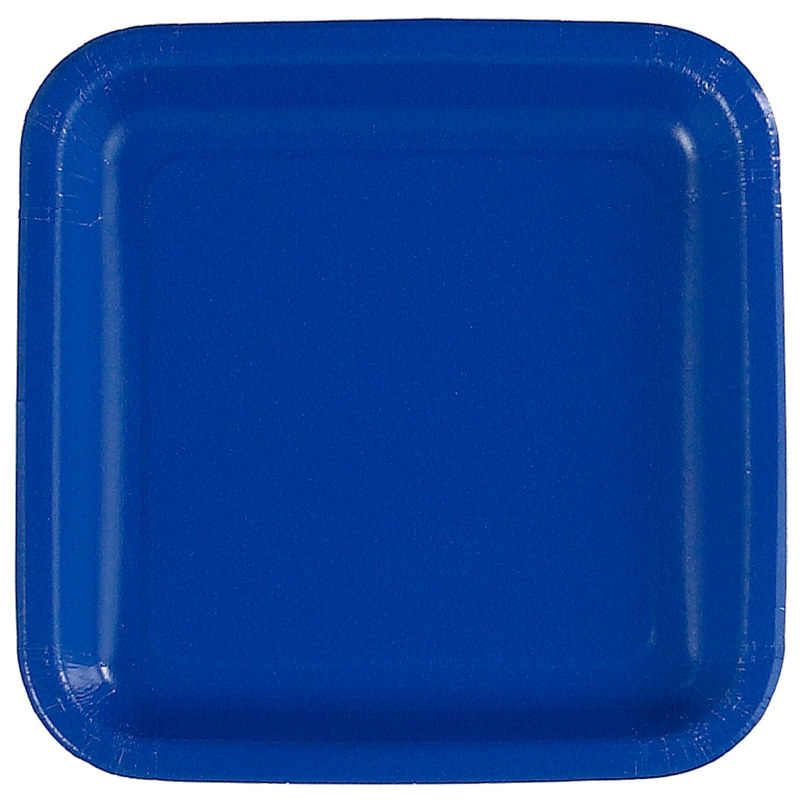 Royal Blue Square Dessert Plates (12 count)
