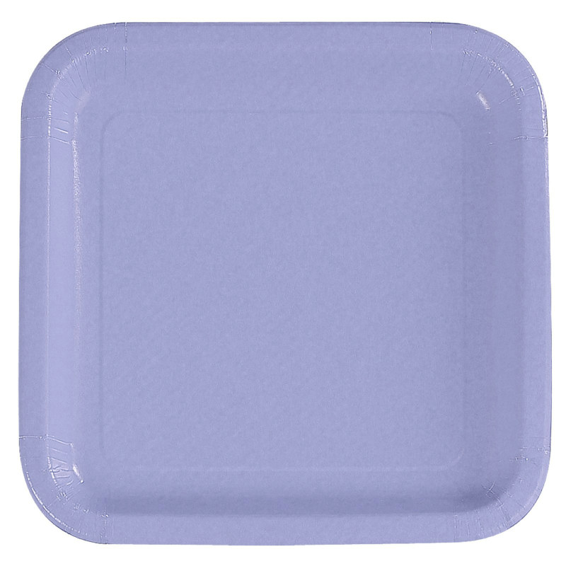 Lavender Square Dinner Plates (12 count)