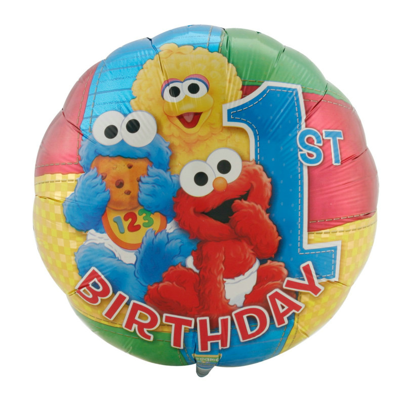 "Sesame Street 1st Birthday 18"" Foil Balloon"