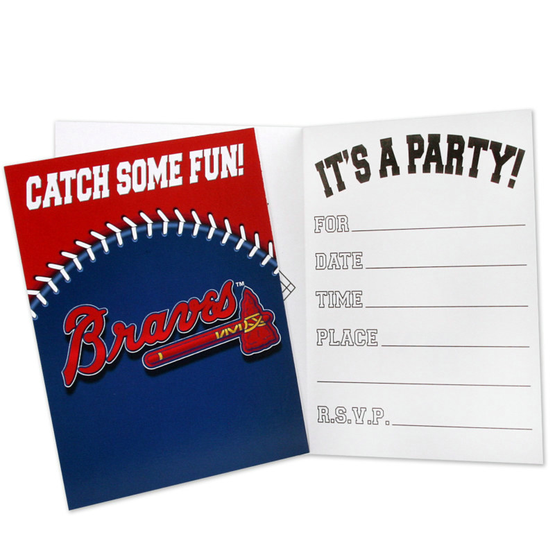 Atlanta Braves Invitations (8 count)