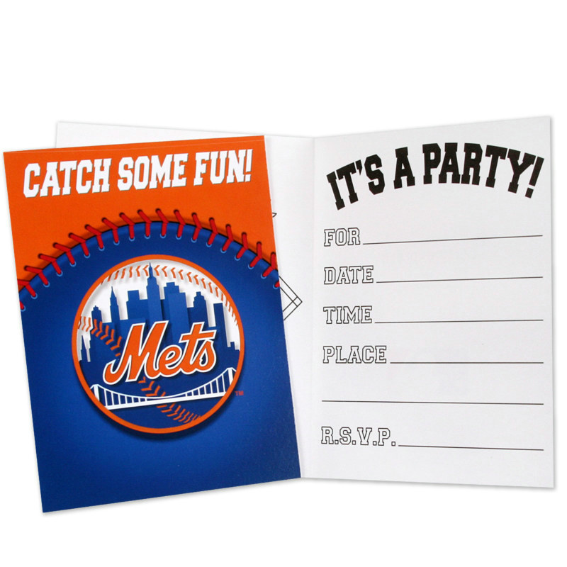 New York Mets Invitations (8 count)