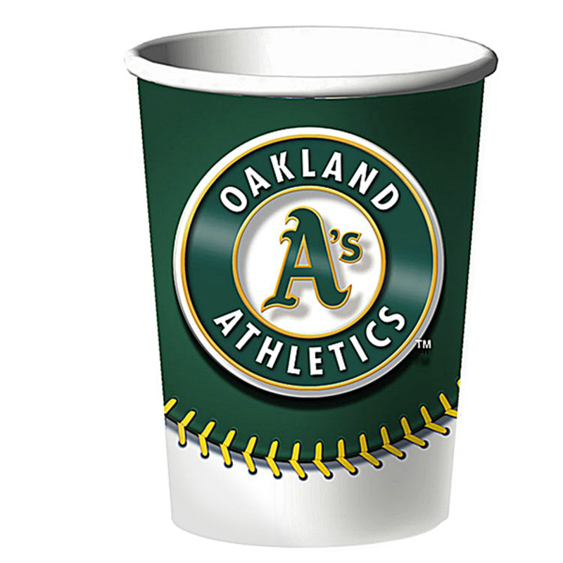 Oakland Athletics 16 oz. Hard Plastic Cup (1 count) - Click Image to Close