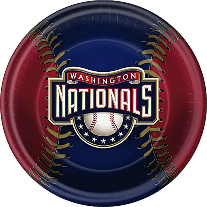 Washington Nationals Dinner Plates (18 count)