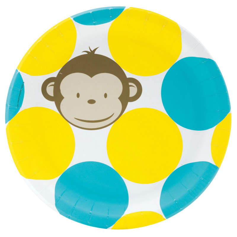 Mod Monkey Dinner Plates (8 count)