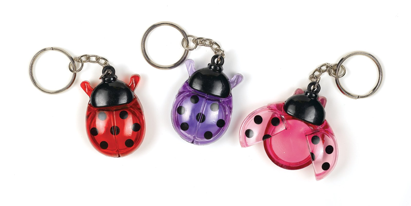 Ladybugs Lip Gloss Keychain