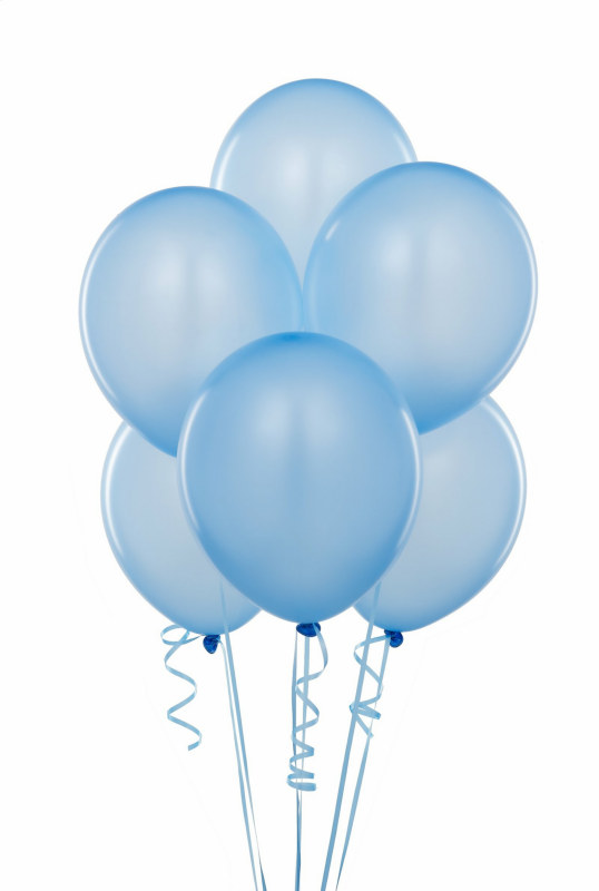 Light Blue Latex Balloon (6 count)