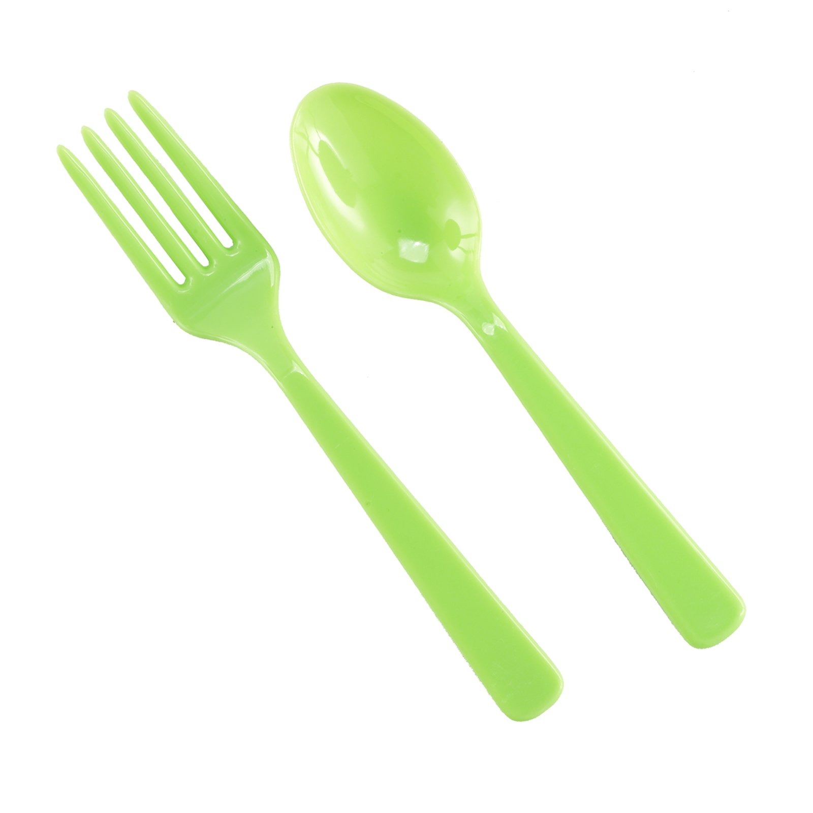 Forks & Spoons - Lime Green (8 each)