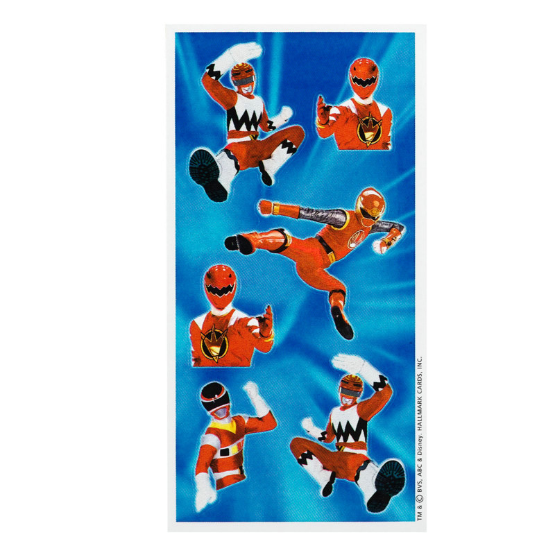 Power Rangers Sticker Sheets