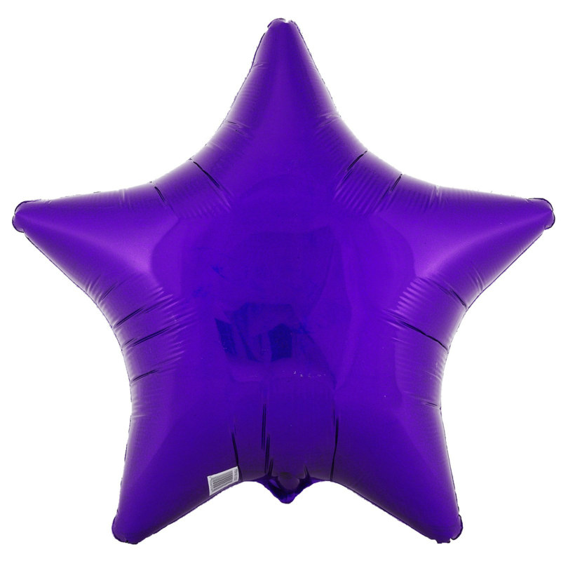 "Purple Prismatic Star 18"" Foil Balloon"