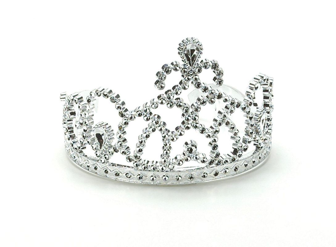 Silver Princess Tiaras (8 count)