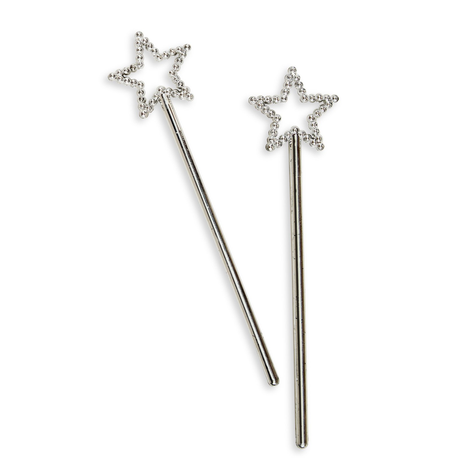 Silver Star Wands (8 count)