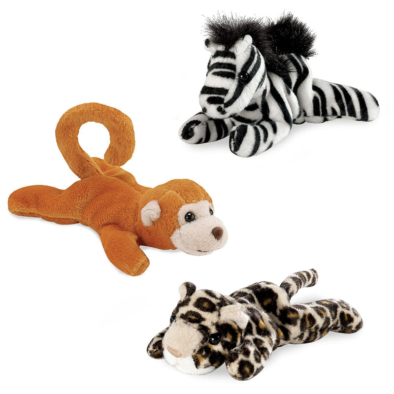 Jungle Animal Bean Bags Assorted (8 count)