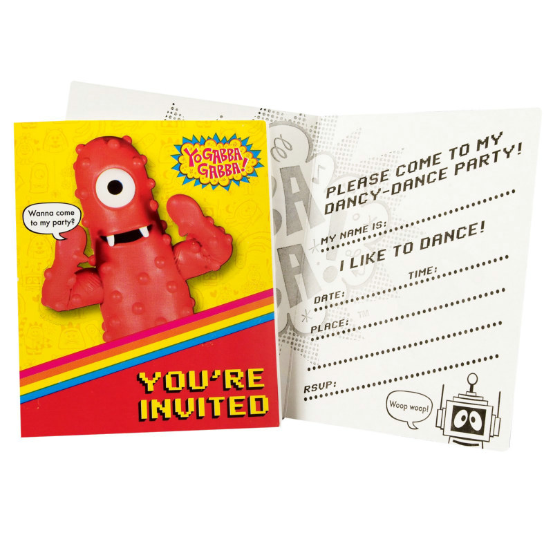 Yo Gabba Gabba! Invitations