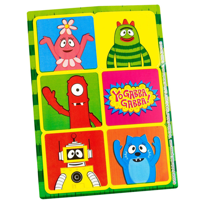 Yo Gabba Gabba! Sticker Sheets