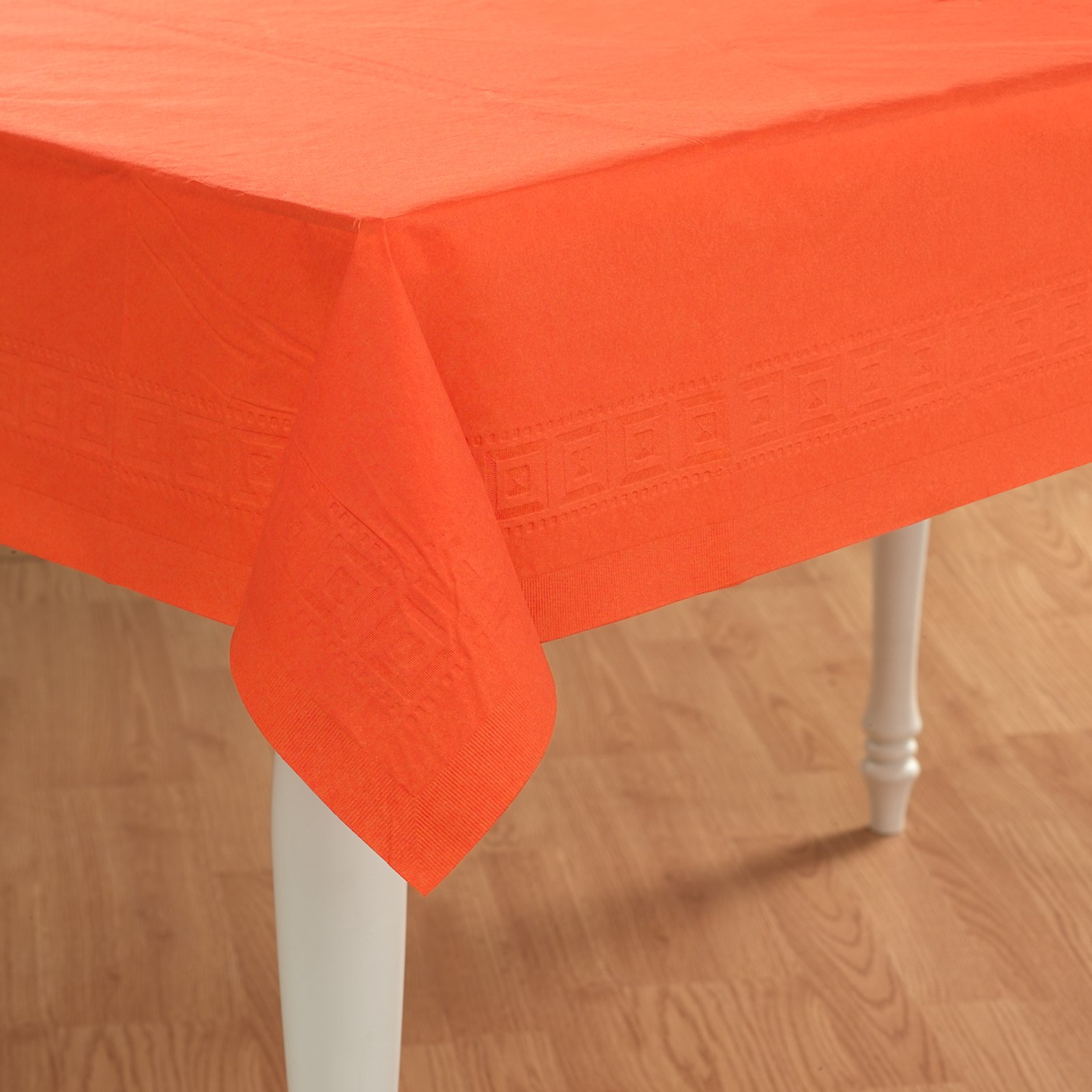 Sunkissed Orange (Orange) Paper Tablecover